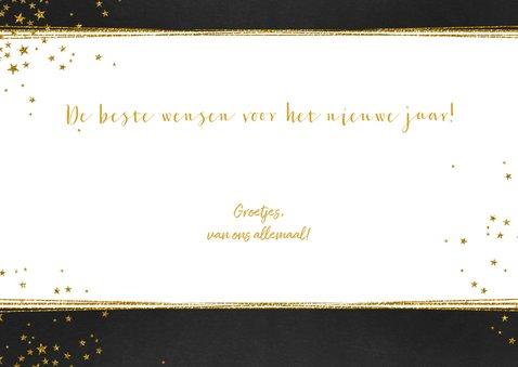 Kerst feestelijke foto kerstkaart met goud kleurige sterren 3