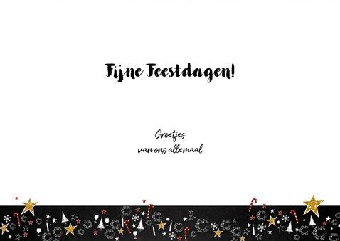 Kerst feestelijke typografische kaart met 2 foto's 3