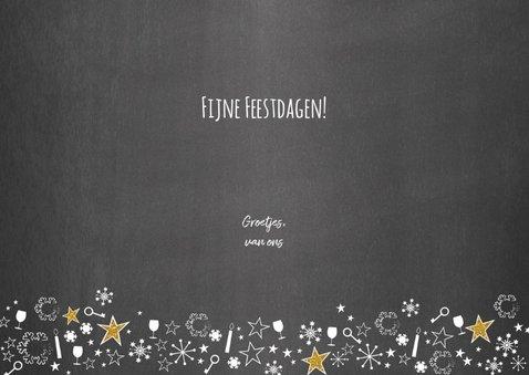 Kerst feestelijke typografische verhuiskaart krijtbord 3