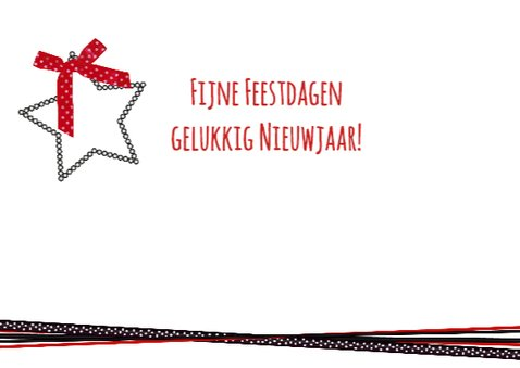 Kerst foto zwart rood lint L-HB 3