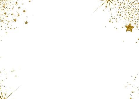 Kerst hippe kaart met 2 foto's en  gouden glitter sterren  2