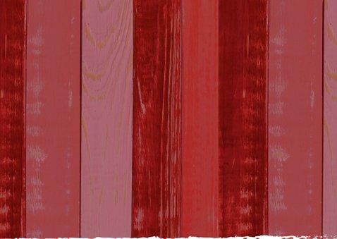 Kerst hout rood goud foto L 2