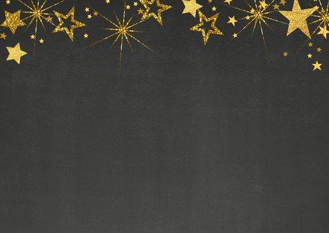 Kerst krijtbord handlettering goud glitter 2020 2