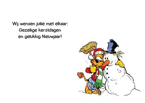 Kerst Loeki en vriendje sneeuwpop 3