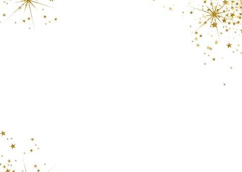 Kerst modern kerstkaart met 3 foto's en vele sterren 2020 2