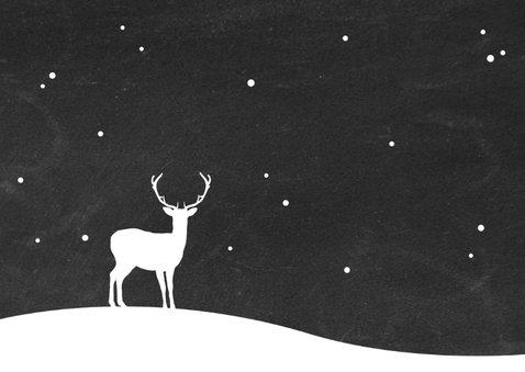 Kerst - Rendier met sneeuw 3