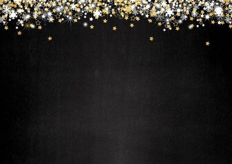 Kerst sfeervolle donkere fotokaart met vele sterren 2