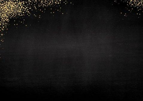Kerst sfeervolle uitnodiging kerstdiner goud bestek  2