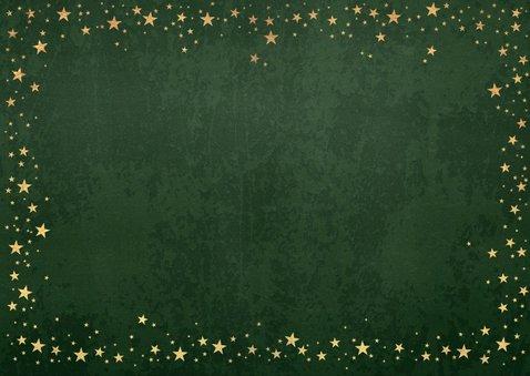 Kerst stijlvolle groene fotokaart industrieel sterren goud 2