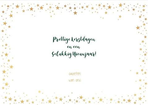 Kerst stijlvolle groene fotokaart industrieel sterren goud 3