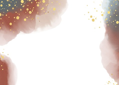 Kerst stijlvolle kaart waterverf en goudkleurige spetters 2