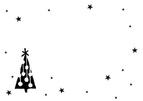 Kerst tegoedbon handlettering kerstbomen Achterkant