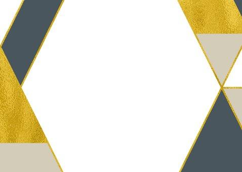 Kerst Verhuiskaart geometrische vormen goudlook Achterkant