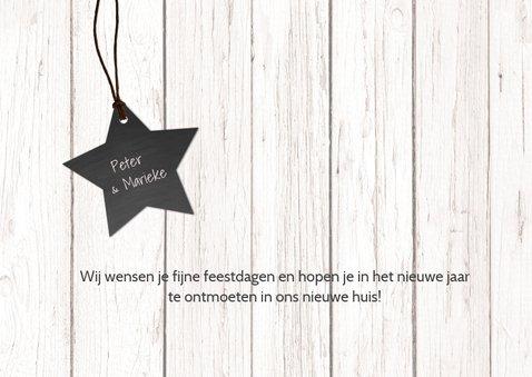 Kerst verhuiskaart hout met foto 3