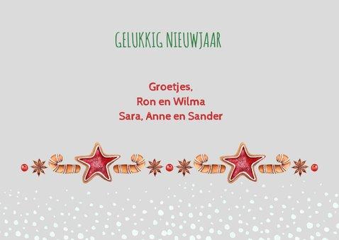 Kerst-verhuiskaart huisjes met kerstkoekjes 3