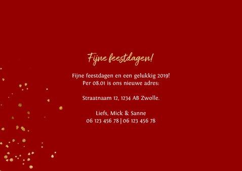 Kerst-verhuiskaart met spetters en foto's 3