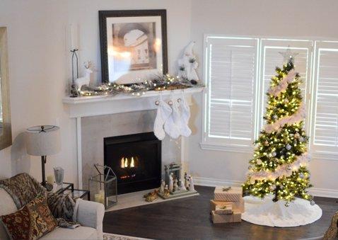 Kerst-verhuiskaartje met foto en gouden huisje 2