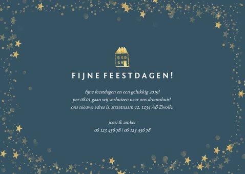 Kerst-verhuiskaartje met foto en gouden huisje 3
