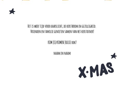 Kerstdiner goud/zwart wit 3