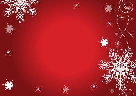 Kerstdiner uitnodiging rood design 2