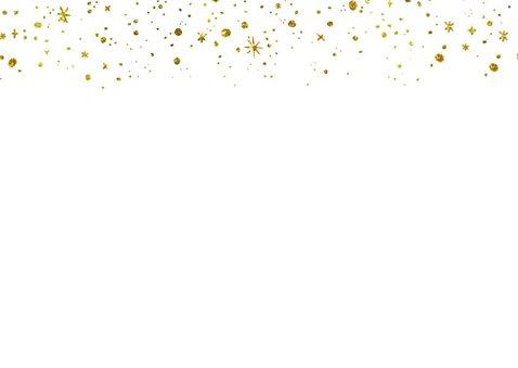 Kerstkaart 2019 Goud Glitter Letters Groot 2