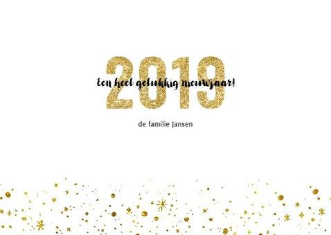 Kerstkaart 2019 Goud Glitter Letters Groot 3