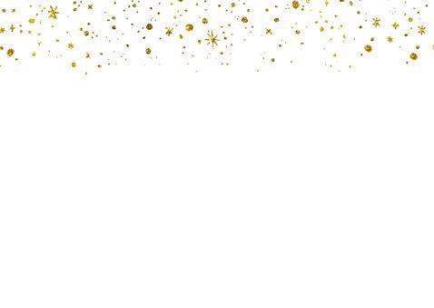 Kerstkaart 2020 Goud Glitter Letters Groot 2
