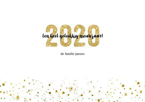 Kerstkaart 2020 Goud Glitter Letters Groot 3