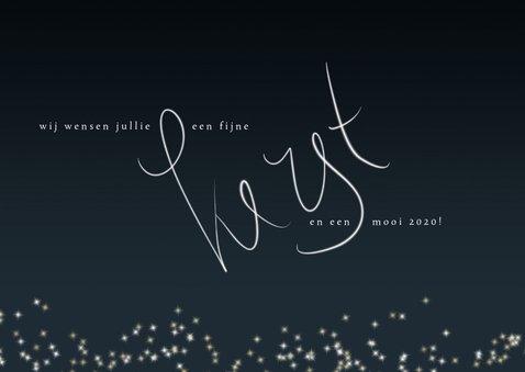 Kerstkaart 2020, handgeschreven tekst en sterretjes 3