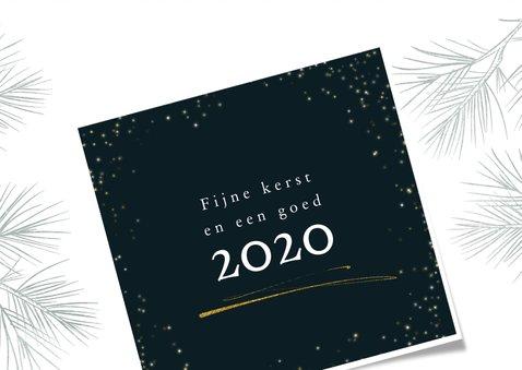 Kerstkaart 2020, met foto in kader met sterretjes 3