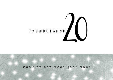 Kerstkaart 2020, modern met jaartal en twee foto's 3