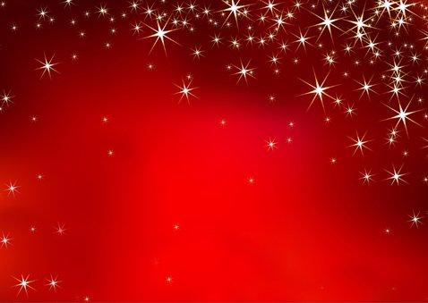 Kerstkaart 3 klassieke witte lijstjes op rode achtergrond 2