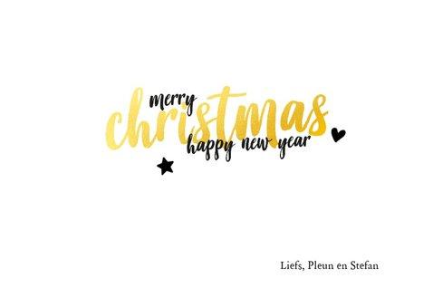 Kerstkaart - best wishes met glitter en gouden letters 3