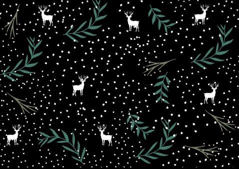 Kerstkaart botanisch met eland 2