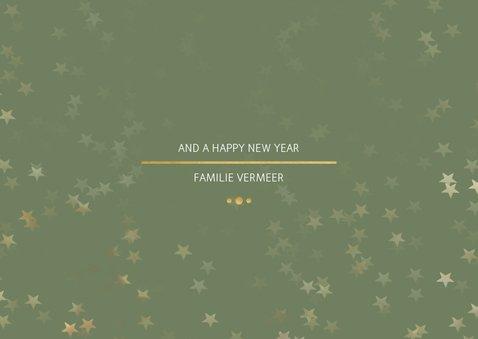Kerstkaart Christmas groen en goud - Een gouden kerst 3