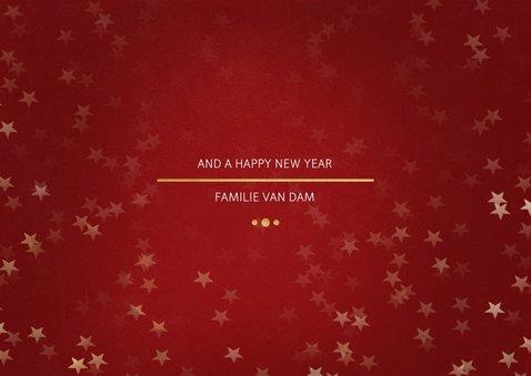 Kerstkaart Christmas rood en goud - Een gouden kerst 3