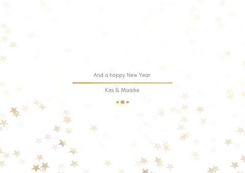 Kerstkaart Christmas wit met goud - Een gouden kerst 3