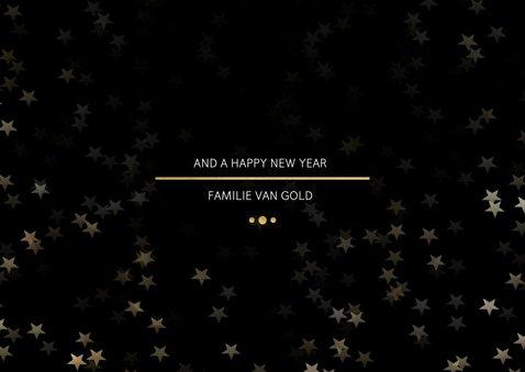 Kerstkaart Christmas zwart met goud - Een gouden kerst 3