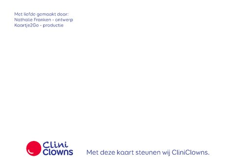 Kerstkaart CliniClowns winter 2