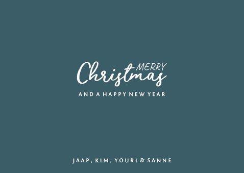 Kerstkaart confetti 'Merry Christmas' met grote foto 3