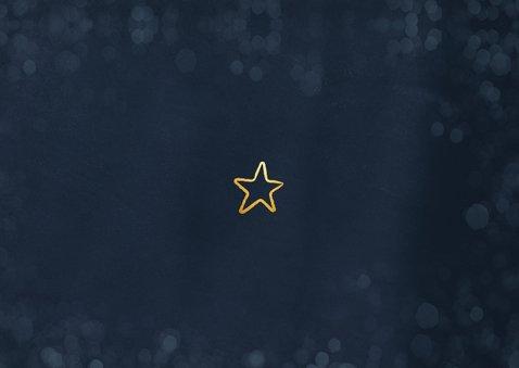 Kerstkaart Corona - dikke papieren kerstknuffel tekst Achterkant