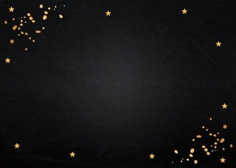 Kerstkaart donker gouden confetti rechthoekig 2