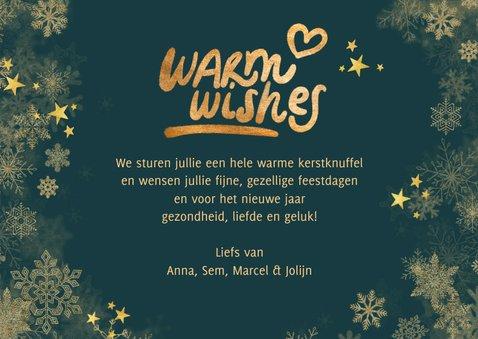 Kerstkaart eigen foto's 'Warm wishes' 3
