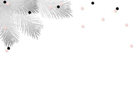 Kerstkaart foto aquarel confetti 2