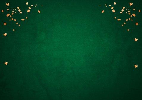 Kerstkaart fotocollage donkergroen koper 2
