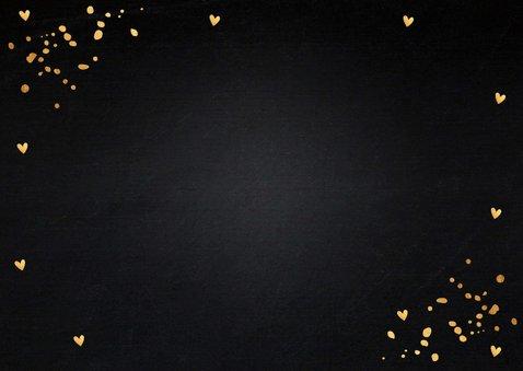Kerstkaart fotocollage zwart goudlook rechthoekig 2