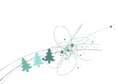 Kerstkaart Glitter Kerstboom 2