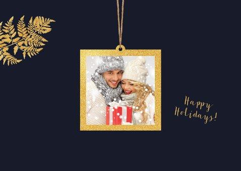 Kerstkaart goud slinger Xmas 2