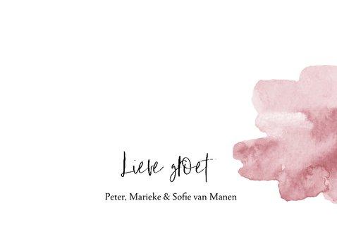 Kerstkaart handlettering en roze waterverf 3