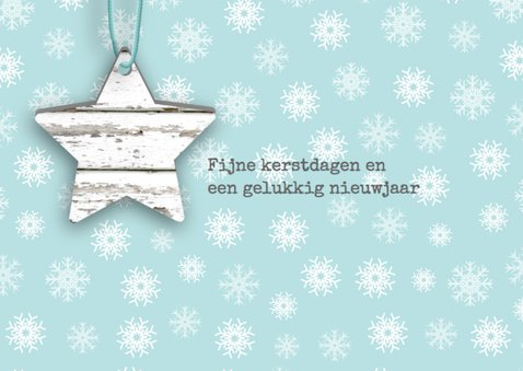 Kerstkaart hangers steigerhoutlook 2